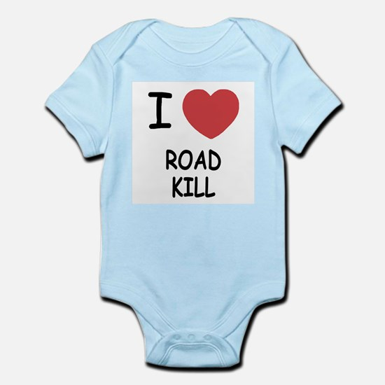 I heart road kill Infant Bodysuit