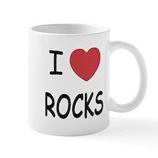 I heart rocks Small Mug