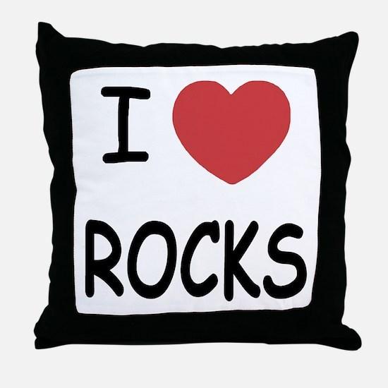 I heart rocks Throw Pillow