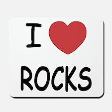 I heart rocks Mousepad