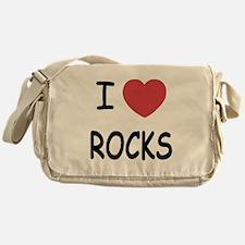 I heart rocks Messenger Bag