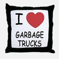 I heart garbage trucks Throw Pillow