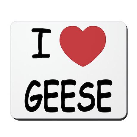 I heart geese Mousepad