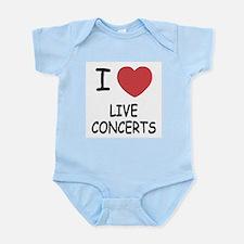 I heart live concerts Infant Bodysuit