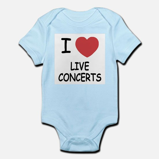 I heart live concerts Infant Bodysuit