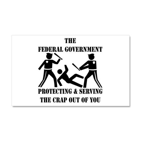 Fed-Gov Protecting And Serving Car Magnet 20 x 12