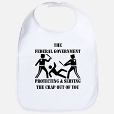 Fed-Gov Protecting And Serving Bib