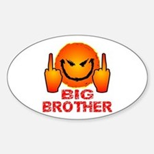 Eff Off Big Brother Sticker (Oval)