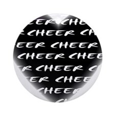 Cheer black heart Ornament (Round)