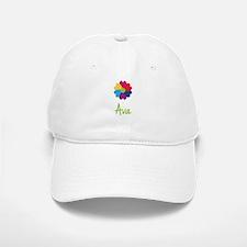 Ava Valentine Flower Baseball Baseball Cap