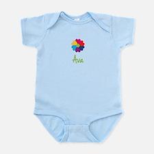 Ava Valentine Flower Infant Bodysuit