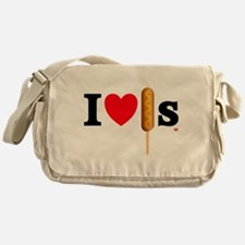 I Love Corn Dogs Messenger Bag
