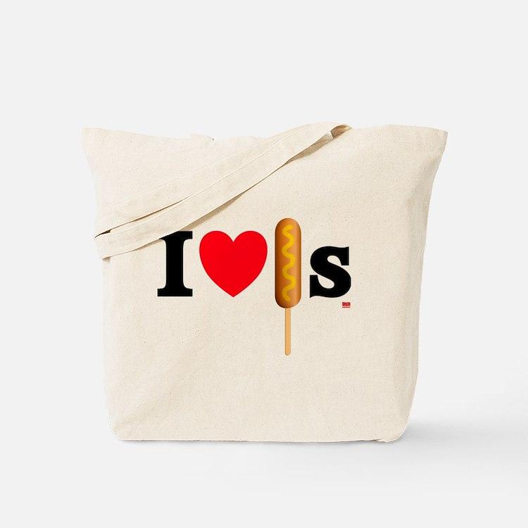 I Love Corn Dogs Tote Bag
