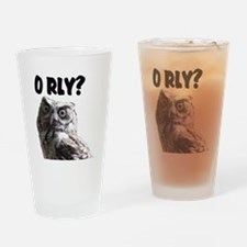 O RLY? Drinking Glass