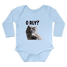 O RLY? Long Sleeve Infant Bodysuit