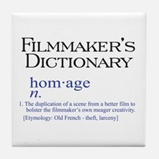 Film Dictionary: Homage Tile Coaster