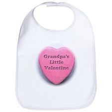 Grandpa's Little Valentine Gi Bib