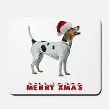 Foxhound Christmas Mousepad