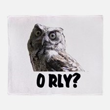 O RLY? Throw Blanket