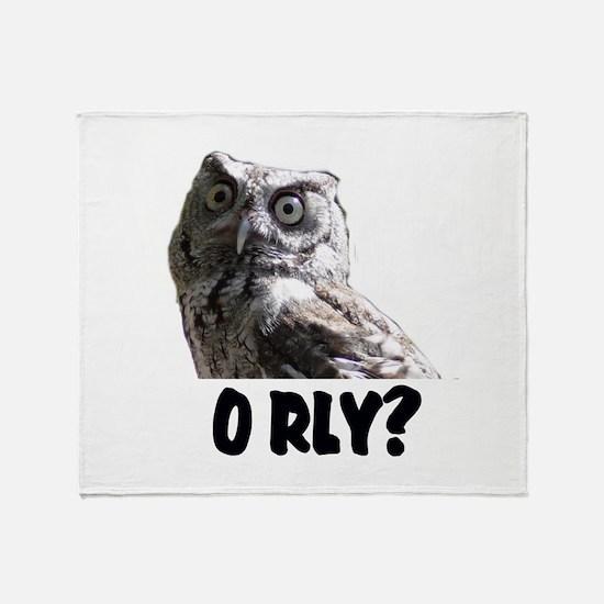 O RLY? Throw Blanket