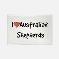 I heart Australian Shepherds Rectangle Magnet