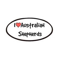 I heart Australian Shepherds Patches