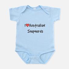 I heart Australian Shepherds Infant Bodysuit