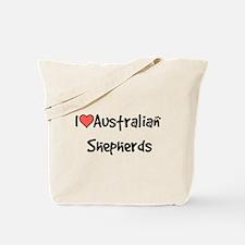 I heart Australian Shepherds Tote Bag