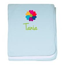 Tania Valentine Flower baby blanket