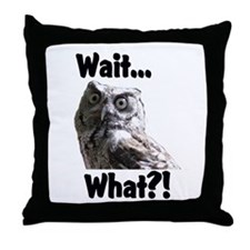 wait,, Throw Pillow