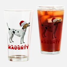 Naughty Foxhound Drinking Glass
