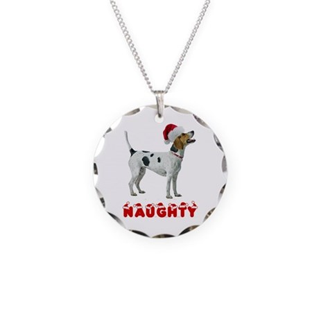 Naughty Foxhound Necklace Circle Charm
