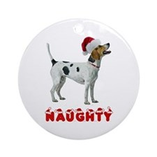 Naughty Foxhound Ornament (Round)