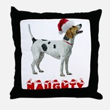 Naughty Foxhound Throw Pillow
