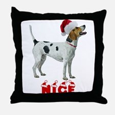 Nice Foxhound Throw Pillow