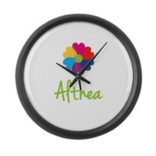 Althea Valentine Flower Large Wall Clock