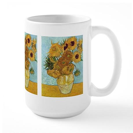 Van Gogh's Sunflowers Large Mug
