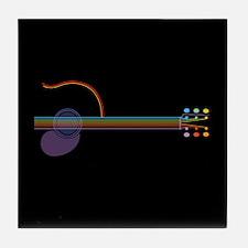 Neon Guitar Tile Coaster