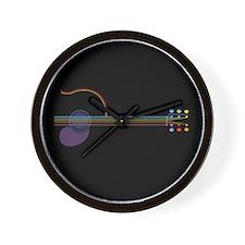 Neon Guitar Wall Clock