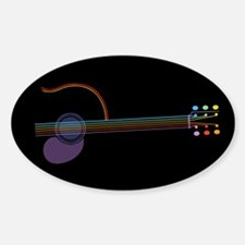 Neon Guitar Decal