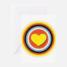 Bullseye Heart Greeting Card