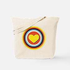 Bullseye Heart Tote Bag