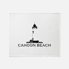 """Cahoon Beach """"Lighthouse"""" Design. Throw Blanket"""