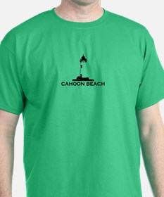 "Cahoon Beach ""Lighthouse"" Design. T-Shirt"