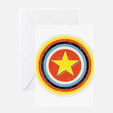 Bullseye Star Greeting Card
