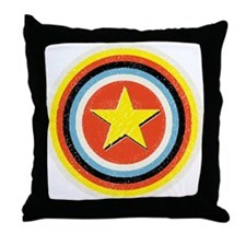 Bullseye Star Throw Pillow