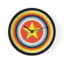 Bullseye Star Wall Clock