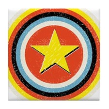 Bullseye Star Tile Coaster