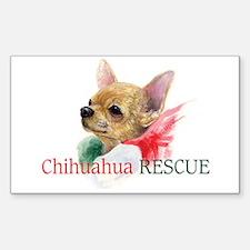 Chihuahua RESCUE Sticker (Rectangle)