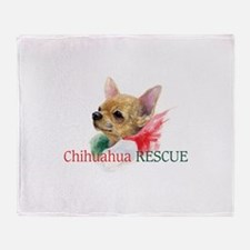 Chihuahua RESCUE Throw Blanket